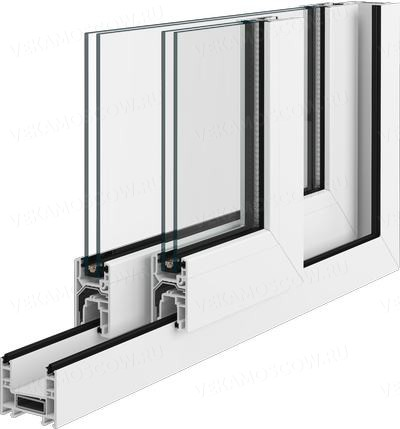 """Остекление балконов раздвижными пластиковыми окнами - """"пск к."""